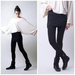 NWT- Extra Long Skirt Leggings Tights Yoga Small